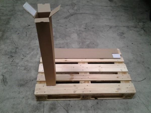 Faltkarton 105 x 105 x 860 mm W1