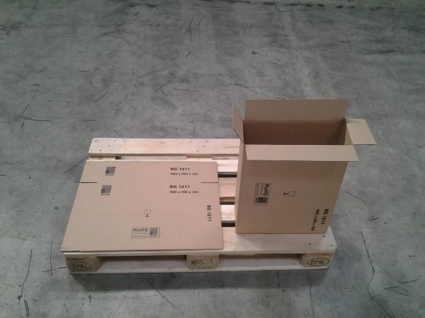 Faltkarton 410 x 165 x 510 mm W1