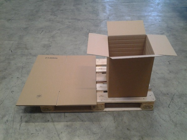 Faltkarton 400 x 400 x 500 mm W2