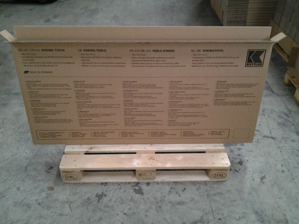 Faltkarton 1650 x 80 x 750 mm W2