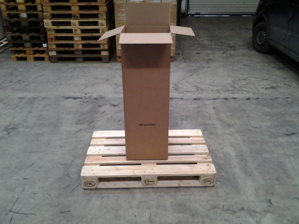 Faltkarton 390 x 280 x 1155 mm W1