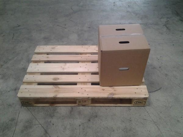 Faltkarton 365 x 365 x 427-750 mm W2